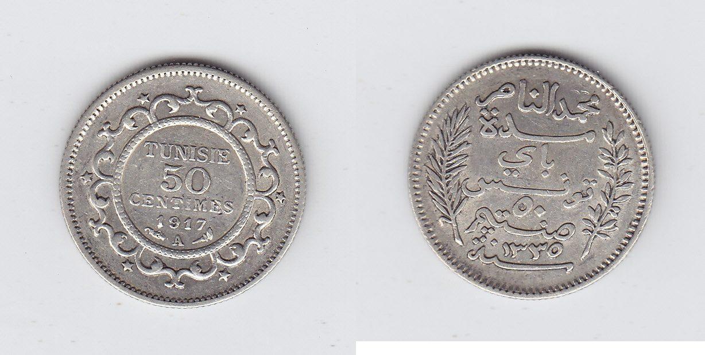 Tunesien 50 centieme 1917/1335 vz-unz