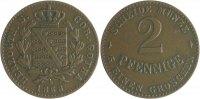 Sachsen-Coburg-Gotha 2 Pfennige Ernst II. 1844-1893