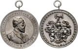 Brandenburg in den Marken - Preussen Bronzemedaille, versilbert Wilhelm II. 1888-1918