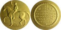Tiere und Landwirtschaft Bronzemedaille, vergoldet a. 25 Jahre Reichsverband für Zucht und Prüfung deutschen Warmbluts