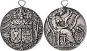 Nürnberg - Stadt Bronzemedaille, versilbert a.d. 8. Sängerbundesfest