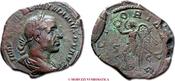 Sestertius / Sesterz 253 A.D. Roman Empire / RÖMISCHE KAISERZEIT AEMILIAN Sehr Schön