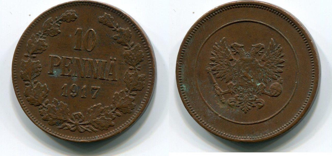 10 Penniä 1917