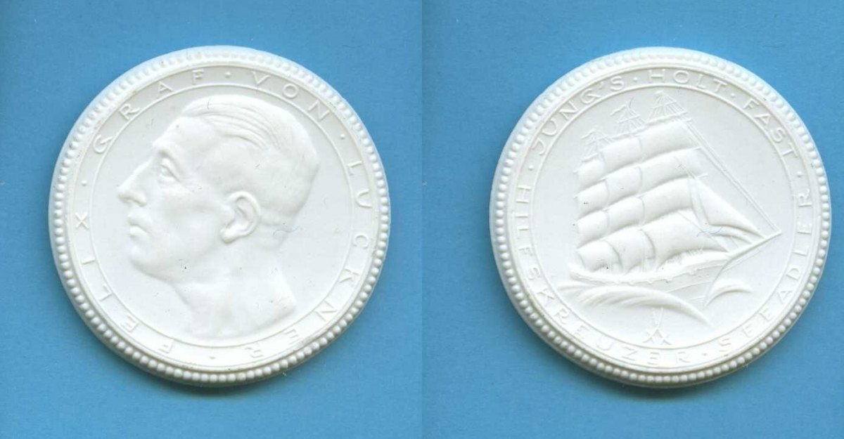 porzellan medaille 1923 deutsches reich berlin felix graf v luckner 1881 1966 vz ma shops. Black Bedroom Furniture Sets. Home Design Ideas