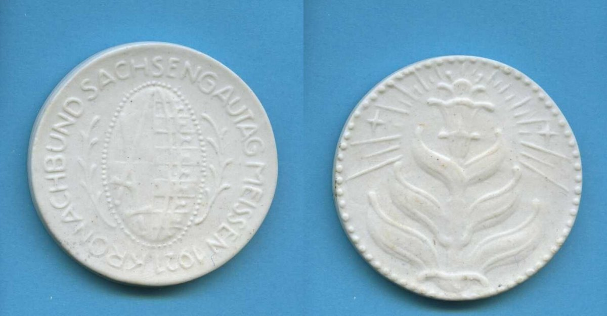 porzellan medaille 1921 deutsches reich meissen. Black Bedroom Furniture Sets. Home Design Ideas