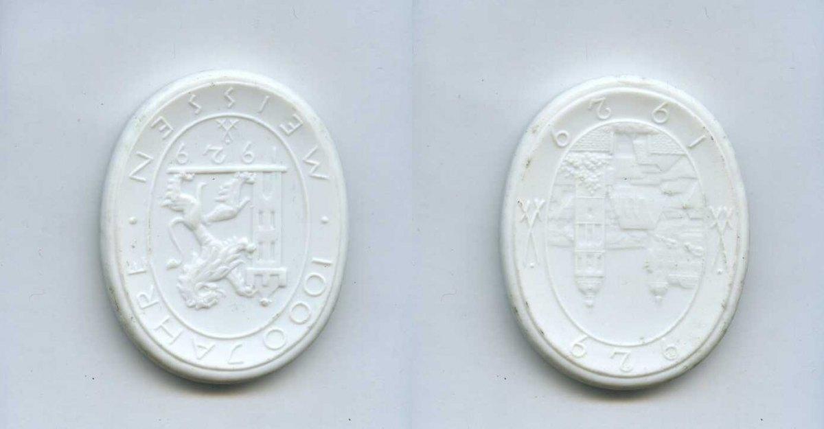 porzellan medaille 1929 deutsches reich meissen 1000. Black Bedroom Furniture Sets. Home Design Ideas