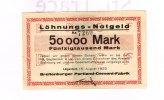 Schleswig-Holstein, 50000 Mark, Lägerdorf,