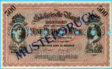 Deutschland/Sachsen, 500 Mark, Länderbanken-Sächsische Bank-Musterdruck,