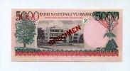Ruanda, 5000 Francs Spezimen,
