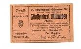 Schwerin a..d.Warthe/Posen, 500 Milliarden Mark,