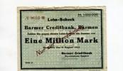 Ronsdorf, 1 Million Mark, Barmer Kreditbank.