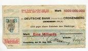 Cronenberg, 1 Milliarde Mark, Deutsche Bank,