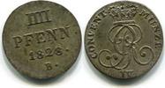 Hannover, 4 Pfennig Georg IV.1820-1830,