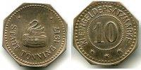 Kaiserreich 10 Pfennig ~ Tönning / Probe - Abschlag in Silber ~