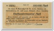 Deutschland 500.000 Mark ~ Hamburg / P. Beiersdorf & Co. AG ~