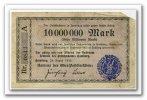 Deutschland 10 Mio. Mark ~ Hamburg / Ober Postdirektion ~