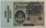 Deutsches Reich / Inflation 500 Mrd. Mark ~ Reichsbanknote des Reichsbankdirektorium Berlin ~