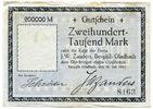 Deutschland, 200.000 Mark, ~ Bergisch Gladbach / Firma J.W.Zanders ~