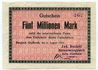 Deutschland, 5 Millionen Mark, ~ Bergisch Gladbach / Joh. Becker Holzbearbeitungsfabrik ~