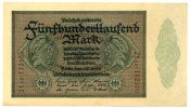 Deutsches Reich / Inflation 500.000 Mark ~ Reichsbankdirektorium Berlin ~