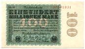 Deutsches Reich / Inflation 100 Mio. Mark ~ Reichsbankdirektorium Berlin ~