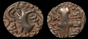 stater 5th cent AD India North India Kidarite Confederacy in Gandhara Vigraha Deva gold stater EF