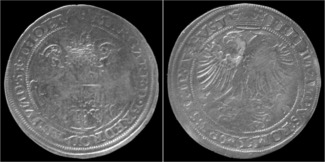 rijksdaalder 1560 Thorn Thorn (Abby) Margaretha van Brederode rijksdaalder 1560 VF+