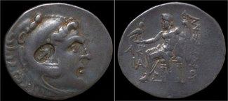 tetradrachm 336-323BC Macedon Kings of Macedon Alexander III AR tetradrachm with  Seleucid counterstamp VF+