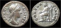 Roman denarius Sabina AR denarius Concordia seated left