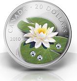 20 DOLLAR 2010 KANADA WASSER LILIE PP IM ORIGINALETUI