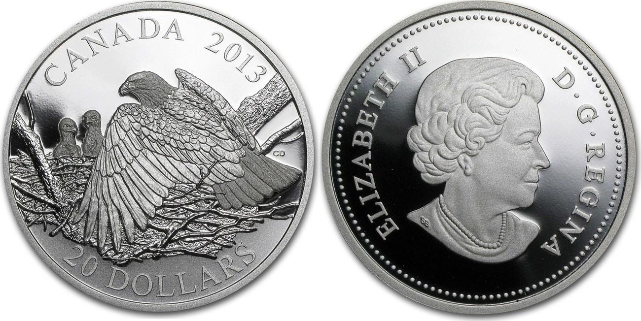 20 DOLLAR 2013 KANADA MUTTER BESCHÜTZT IHRE JUNGEN PP