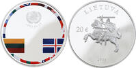 20 EURO 2016 LITAUEN 25. JAHRESTAG DER KONSOLIDIERUNG - VERKAPSELT PP  84,00 EUR  zzgl. 6,00 EUR Versand