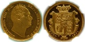 1831  GREAT BRITAIN: WILLIAM IV PROOF HALF-SOVEREIGN (NGC PF62 ULTRA CAMEO) RARE PROOF