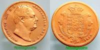 GREAT BRITAIN/GROSSBRITANNIEN HALF-SOVEREIGN (OBVERSE FROM SIXPENCE) WILLIAM IV: HIGHEST RARITY (R5 IN M.MARSH)