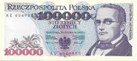 POLAND 100 000 zlotych POLAND: 100 000 zlotych 1993. Series AE. UNC