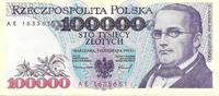 POLAND / POLEN 100 000 zlotych Series AE. GRADE UNC.