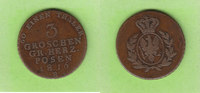 3 Groschen 1816 B Preußen für Posen selten sehr schön  115,00 EUR  plus 4,00 EUR verzending