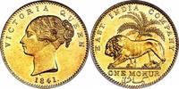 East India Company - Victoria Gold Mohur, Bombay mint.