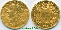 20 Franken 1927 Schweiz Schweiz - 20 Franken - 1927 Stg  276,00 EUR  zzgl. 6,00 EUR Versand
