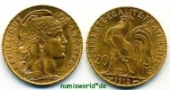 20 Francs 1912 Frankreich Frankreich - 20 Francs - 1912 vz+  320,00 EUR  zzgl. 6,00 EUR Versand