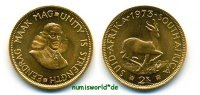 2 Rand 1973 Südafrika Südafrika - 2 Rand - 1973 Prachtexemplar!  407,00 EUR  zzgl. 6,00 EUR Versand