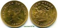 100 Pesos 1954 Chile Chile - 100 Pesos - 1954 f. Stg  734,00 EUR  zzgl. 6,00 EUR Versand