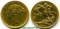 1 Sovereign 1885 Australien Australien - 1 Sovereign - 1885 vz  430,00 EUR  zzgl. 6,00 EUR Versand