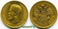 10 Rubel 1899 Russland Russland - 10 Rubel - 1899 vz  521,00 EUR  zzgl. 6,00 EUR Versand