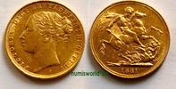 1 Sovereign 1881 Australien Australien - 1 Sovereign - 1881 vz+  633,00 EUR  zzgl. 6,00 EUR Versand