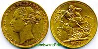 1 Sovereign 1872 Australien Australien - 1 Sovereign - 1872 vz  516,00 EUR  zzgl. 6,00 EUR Versand