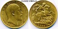 1 Sovereign 1908 Australien Australien - 1 Sovereign - 1908 vz  380,00 EUR  zzgl. 6,00 EUR Versand