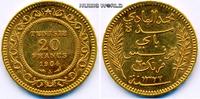 20 Francs 1904 Tunesien Tunesien - 20 Francs - 1904 vz  281,00 EUR  zzgl. 6,00 EUR Versand