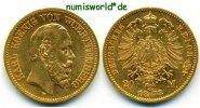 20 Mark 1873  Württemberg - 20 Mark - 1873 ss  393,00 EUR  zzgl. 6,00 EUR Versand