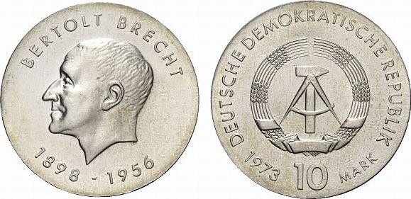 10 Mark 1973  Fast Stempelglanz